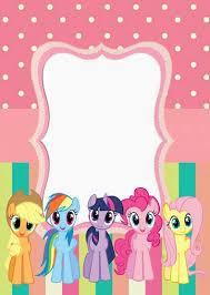 Invitacion My Little Pony Invitaciones My Little Pony Fiesta