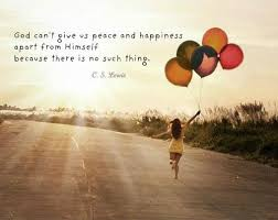god can t give us peace and happiness apart from himself because