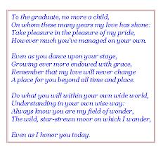 inspirational poems high school graduates com