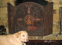 uttermost egan wrought iron fireplace