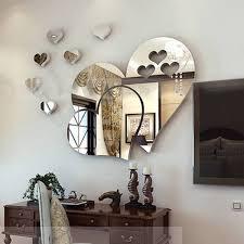 Buy New 3d Home Art Mirror Wall Sticker Love Hearts Lip Room Decal Mural Decor Kikuu D R Congo
