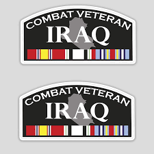 Amazon Com X2 Veteran Iraq Sticker Combat War Decal For Car Bumper Truck Window Laptop Us Army 8 In Kitchen Dining