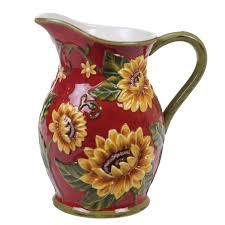 french sunflower pitcher wayfair