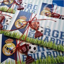 Real Madrid Invitation Real Madrid Party Real Madrid Birthday