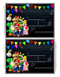Super Mario Invitation Super Mario Birthday Super Mario Pdf Etsy