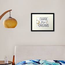 Chase Your Dreams Framed Art Print By Jb Creative Redbubble