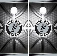 San Antonio Spurs Cornhole Wrap Nba Game Skin Board Vinyl Decal Luxury Set Co711