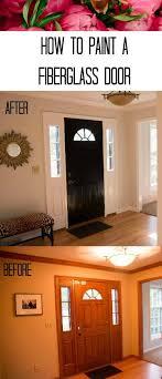 how to paint a fiberglass door home