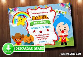 Invitacion Payaso Plim Plim Gratis Mega Idea