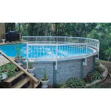 Above Ground Pool Fence Kit White Blue Wave Products