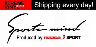 1x Sports Mind Produced By Mazda 3 Sport Vinyl Decal Sticker Emblem Logo Ebay