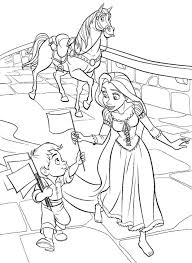 Printable Coloring Pages Disney Princess Tangled Rapunzel For