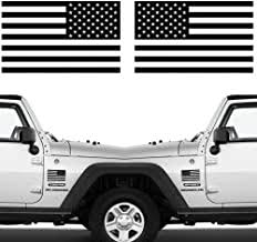 Amazon Com Black American Flag Decal