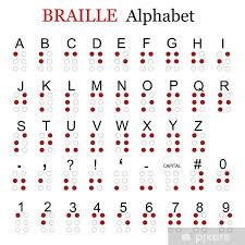 Braille Alphabet Window Glass Sticker Pixers We Live To Change