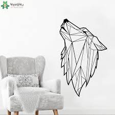 High Quality Modern Geometric Wolf Animal Wall Decals For Kids Boys Bedroom Living Room Vinyl Waterproof Wall Stickers Syy310 Wall Decals Waterproof Wall Stickerwall Sticker Aliexpress