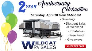 wildcat rv is having a party and you