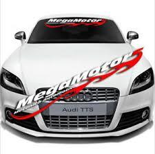 Car Front Rear Windshield Window Banner Reflective Decal Sticker For Megamotors Ebay