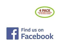 Find Us On Facebook Sticker Vinyl Decal 4 Pack For Sale Online Ebay