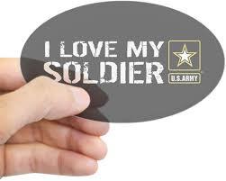 Amazon Com Cafepress U S Army I Love My Soldier Black Oval Bumper Sticker Euro Oval Car Decal Automotive