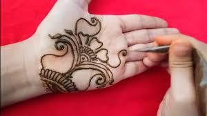 palm simple mehndi design easy and beautiful