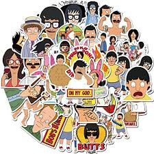 Amazon Com Bob S Burgers 50pcs Tv Stickers Laptop Sticker Computer Bedroom Wardrobe Car Skateboard Motorcycle Bicycle Mobile Phone Luggage Guitar Diy Decal For Teens Bob S Burgers Arts Crafts Sewing