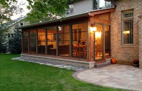 screen porch with fireplace patio fire