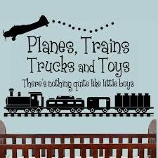 Planes Trains Trucks Toys Boys Bedroom Nursery Vinyl Wall Art Decal For Sale Online