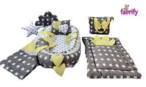 yellow cotton baby bedding set