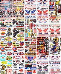 20 Sheets New Honda Multi Logo Car Motocross Atv Enduro Bike Race Sticker Racing Decal Graphic Sm63 Awesome Products Selecte Racing Bikes New Honda Stickers