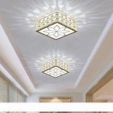 2020 modern square crystal ceiling