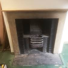 stone fireplace cleaning and