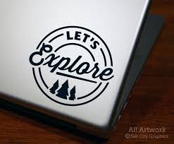 Let S Explore Decal Badge With Pine Trees By Salt City Graphics