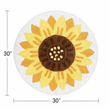 sunflower fl accent floor rug or