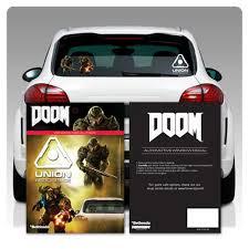 Doom Window Decals 3 Pack Entertainment Earth