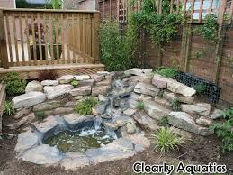 Preformed Pond And Waterfall Clearly Aquatics Clearly Aquatics Ponds Backyard Pond Landscaping Landscaping With Rocks
