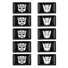 10pcs 3d Transformers Autobot Car Sticker Badge Decal Motorcycle Stickers Emblem Notebook Motor Fridge Decal Auto Accessories Car Stickers Aliexpress