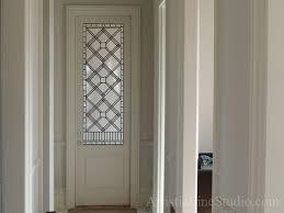 leaded glass office doorlight insert