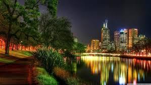 melbourne australia night lights hd