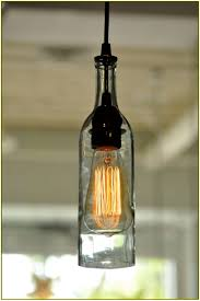 bottle pendant light kit easy craft ideas