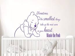 Amazon Com Wall Decals Quotes Vinyl Sticker Decal Quote Winnie The Pooh Sometimes The Smallest Things Take Nursery Baby Room Kids Boys Girls Home Decor Bedroom Art Design Interior Ns816 Home Kitchen