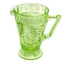 green depression uranium glass art deco