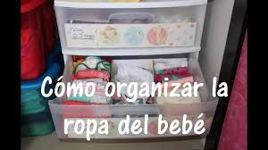 cómo organizar la ropa del bebé diy