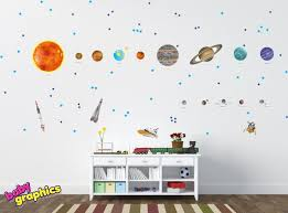 Large Solar System Wall Decals Removable Vinyl Fabric All Etsy