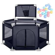 Baby Playpen Ball Safty Activity Center Baby Ball Pool Ball Pit Tent Newborn Play Yard Fence With Basketball Hoop Breathable Mesh For Babies Infants 50 X 26 Inch Walmart Com Walmart Com