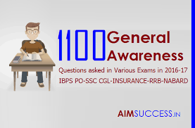 1100 general awareness questions asked