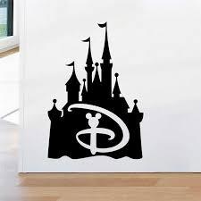 Disney Castle Wall Stickers For Kids Rooms Nursery Home Decorations Cartoon Wall Decals Vinyl Mural Art Diy Wallpaper Wall Stickers Aliexpress