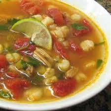 Chicken and Hominy Soup with Lime and ...