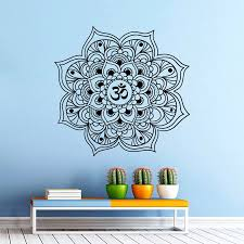 Size 56 56cm Wall Decal Vinyl Sticker Om Oum Sign Yoga Meditation Sport Gym Decor Mandala Mandala Seeds Mandalamandala Gifts Aliexpress
