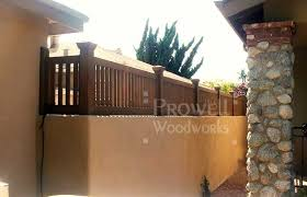 Wall Top Fence Design 1 In Los Angeles Fence Design Rustic Fence Fence Toppers