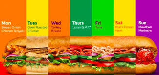 subway sub of the day deals